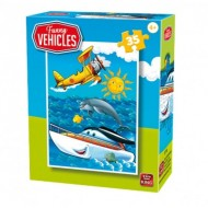 Puzzle  King-Puzzle-05775-B Funny Vehicles