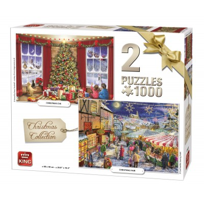 King-Puzzle-05811 2 Puzzles - Christmas Collection