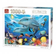 Puzzle  King-Puzzle-55845 Dolphin Family