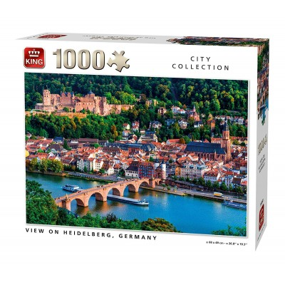 Puzzle King-Puzzle-55850 View of Heidelberg Germany