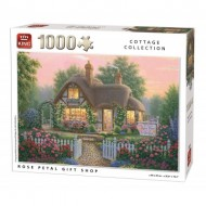 Puzzle  King-Puzzle-55860 Cottage Rose Petal Gift Shop
