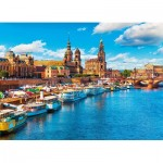 Puzzle  King-Puzzle-55884 Old Town at Elbe River Dresden