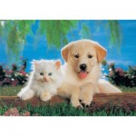 Puzzle  KS-Games-11026 Cat & Dog
