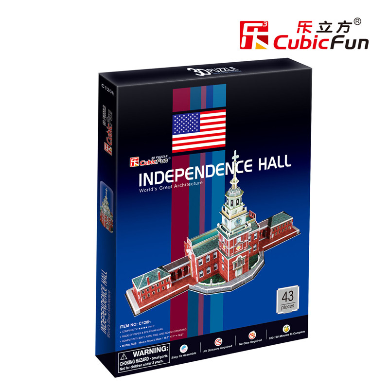 puzzle-3d-independence-hall-usa-difficulte-4-8