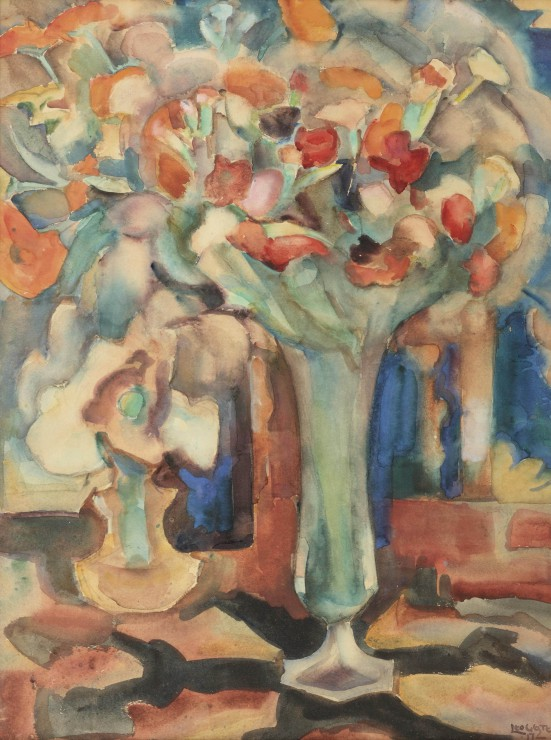 leo-gestel-still-life-with-flowers-in-a-glass-vase-1917