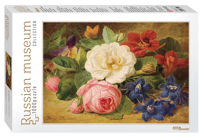 russian-museum-josef-lauer-bouquet-of-flowers-with-a-snail
