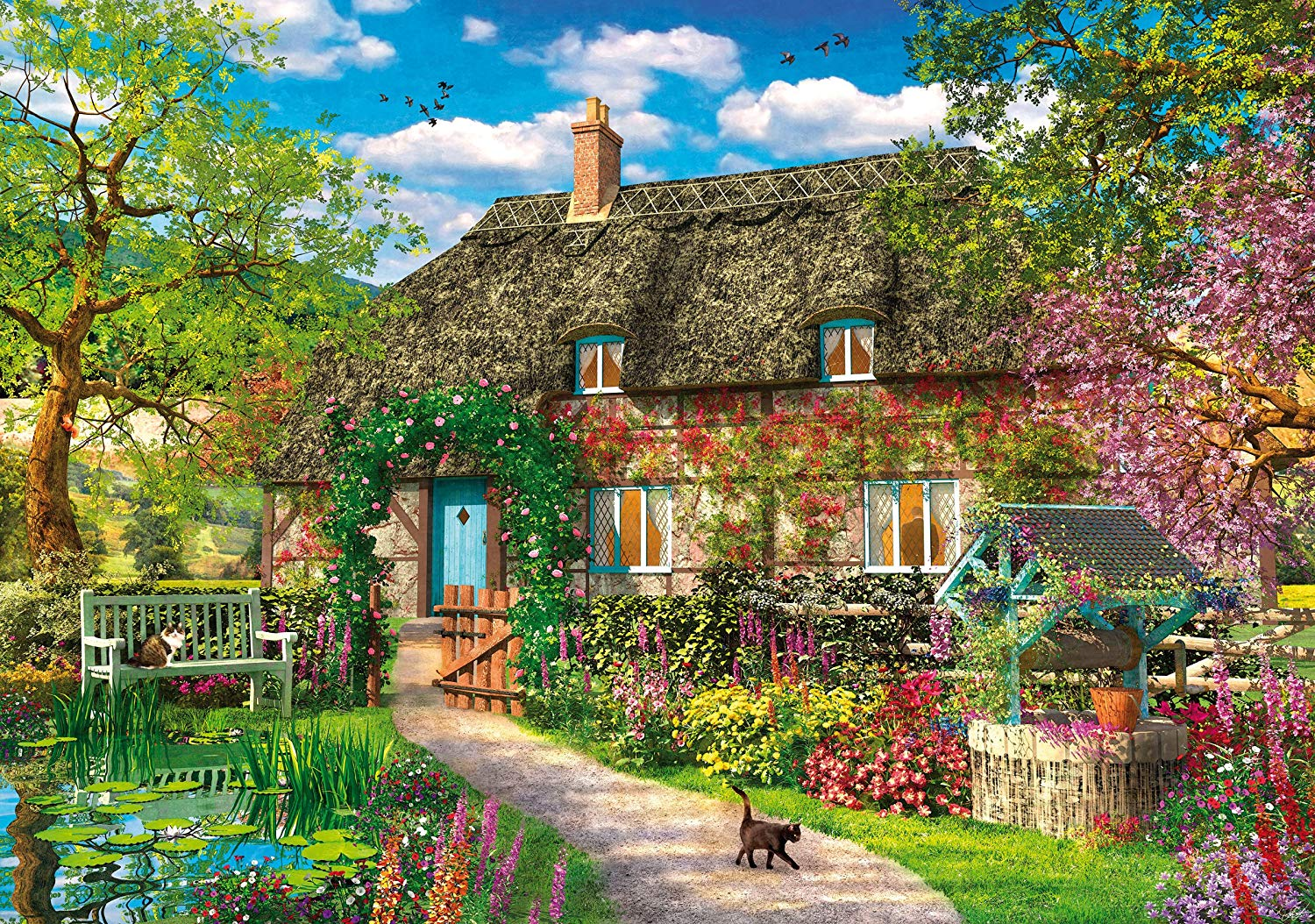 puzzle-en-bois-dominic-davison-the-old-cottage, 44.96 EUR @ fou