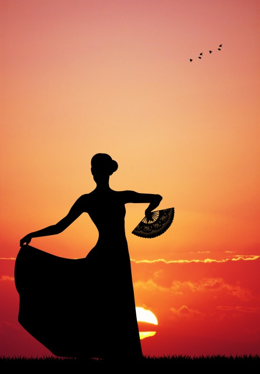 flamenco-at-sunset