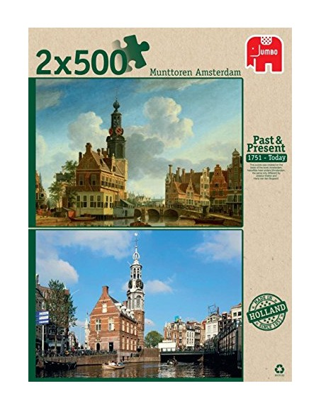 past-and-present-2-puzzles-munttoren-amsterdam