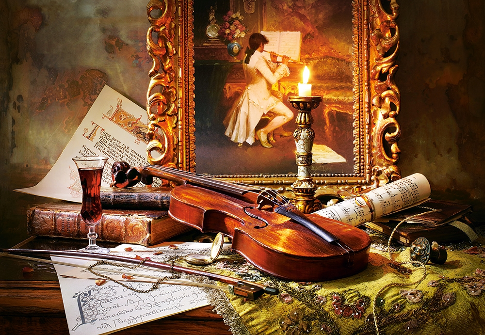 still-life-with-violin-and-painting