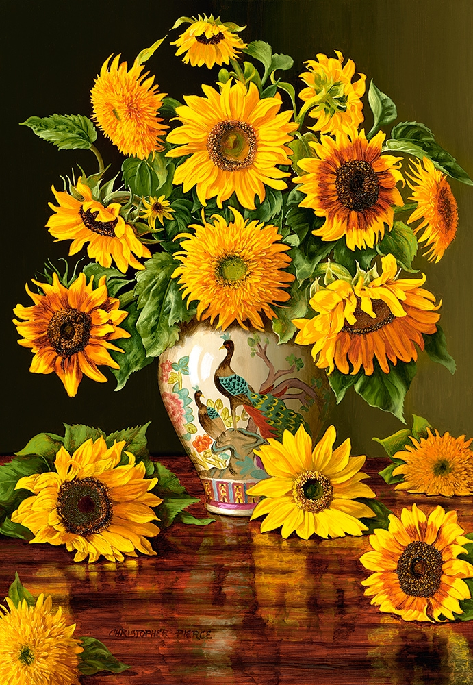 sunflowers-in-a-peacock-vase