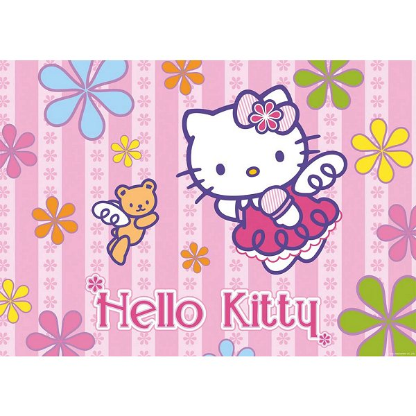 puzzle-24-pieces-geant-hello-kitty-et-le-petit-ours