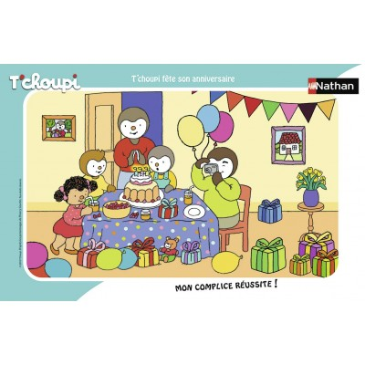 Nathan-86070 Puzzle Cadre - Tchoupi