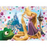 Puzzle  Nathan-86496 Raiponce : Coiffe magique