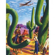 Puzzle  New-York-Puzzle-AA1701 Cactus Country - American Airlines Poster Mini