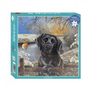 Puzzle  Otter-House-Puzzle-72911 Black Labrador Frosty Morning