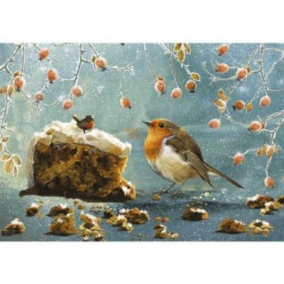 Puzzle Otter-House-Puzzle-74458 Christmas Robin