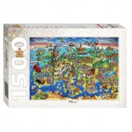 Puzzle  Step-Puzzle-83059 Attractions of Europe
