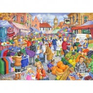 Puzzle  The-House-of-Puzzles-2452 Pièces XXL - Market Day