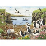 Puzzle  The-House-of-Puzzles-2766 Pièces XXL - Puffin Parade