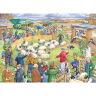 Puzzle  The-House-of-Puzzles-3039 Pièces XXL - Sheep Sale
