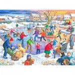 Puzzle  The-House-of-Puzzles-3091 Pièces XXL - Ice Skating