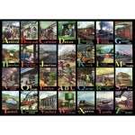 Puzzle  The-House-of-Puzzles-3718 Pièces XXL - A to Z of Rail