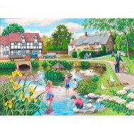 Puzzle  The-House-of-Puzzles-4104 Pièces XXL - Duck Pond