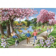 Puzzle  The-House-of-Puzzles-4326 Pièces XXL - Apple Blossom Time