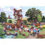 Puzzle  The-House-of-Puzzles-4746 Pièces XXL - Gnome & Away