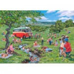 Puzzle  The-House-of-Puzzles-4821 Pièces XXL - Darley Collection - Sunday Picnic
