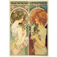 Wentworth-780804 Puzzle en Bois - Mucha Alfons - Feather & Cowslip
