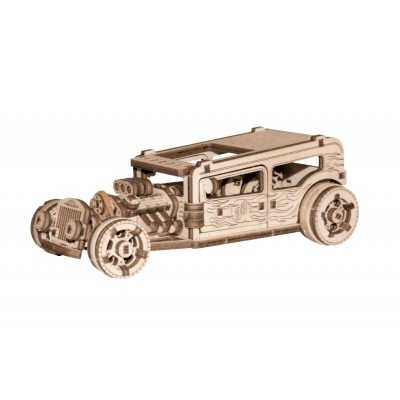Wooden-City-WR339-8701 Puzzle 3D en Bois - Hot Rod